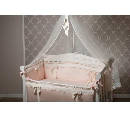 """dormi baby set lenjerie de pat pentru copii  """"coroană"""" din satin pudră (6 unități)"""
