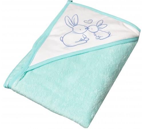 """tega baby prosop cu glugă """"bunny"""" kr-008-105 (100х100 cm.) verde"""