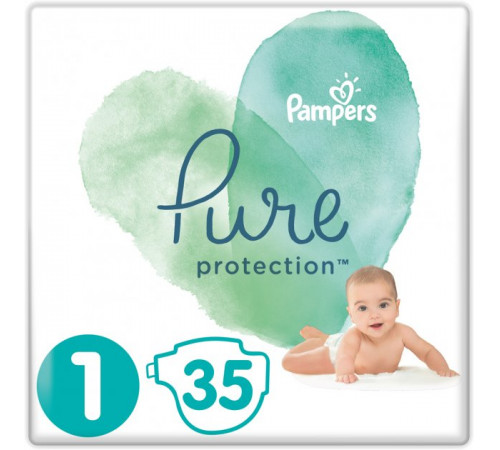 pampers pure protection 1 (2-5 kg.) 35 buc.
