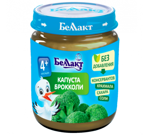 Беллакт piure de broccoli 100 gr. (4 m. +)