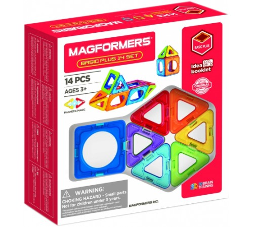 "magformers 705013 Магнитный конструктор ""basic plus"" (14 эл.)"