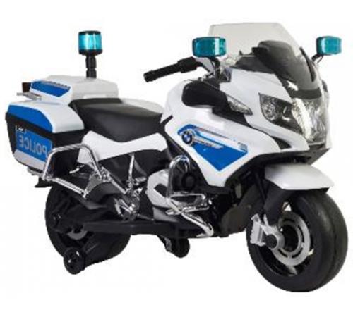 "baby mix ur-z212 Мотоцикл на аккумуляторе ""police bmw"" белый"