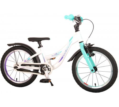 "volare 21676 Велосипед 16 ""glamour prime collection"" белый/мята"
