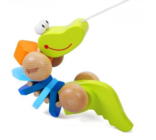 "Детскиймагазин в Кишиневе в Молдове classic world 3301 Деревянная игрушка каталка ""Крокодил"""