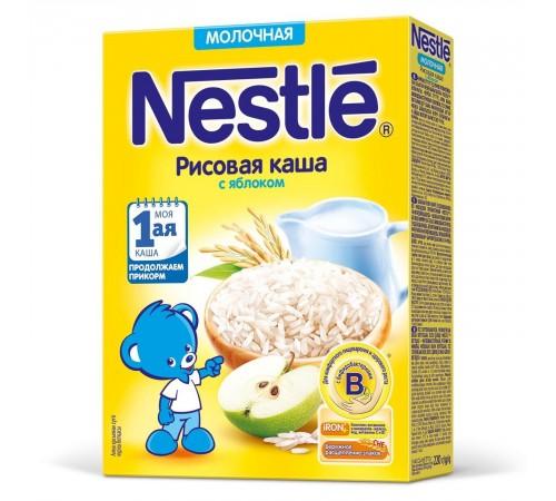 Детское питание в Молдове Каша молочная nestle рисовая с яблоком, от 4 мес. 220 г