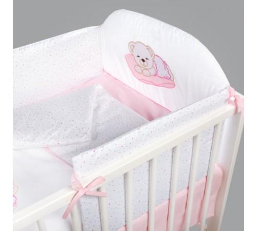 """klups h107  lenjerie de pat """"ursul adormit"""" roz (6 articole)"""