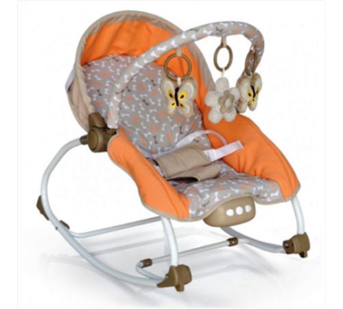 baby mix lcp-br212-18 be Шезлонг с музыкой и вибрацией бежевый