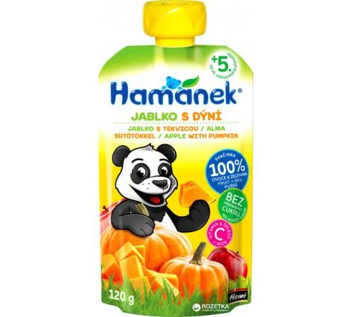 """hame Пюре """"hamanek"""" Яблоко-Тыква (5 м+) 120 гр."""