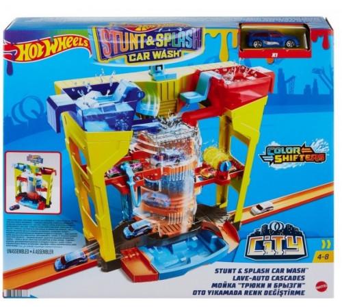 """hot wheels grw37 Игровой набор """"Автомойка: взрыв цветов"""" серии """"Измени цвет"""""""