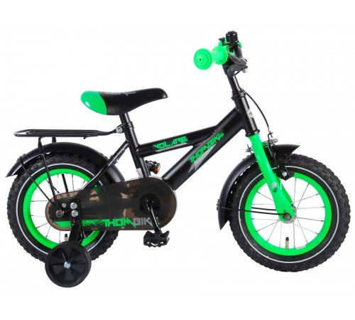 "volare 91403 Велосипед ""thombike 14"" черный/зелёный"