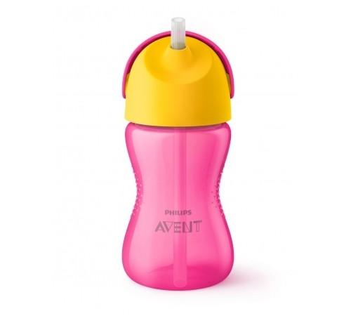 Детское питание в Молдове avent scf798/02 Чашка с трубочкой, 300 мл 1 шт. 12 мес. + дизайн для девочек