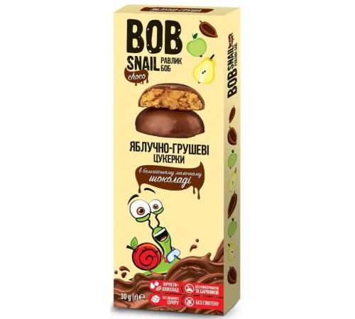 """bob snail Натуральные конфеты """"Яблоко-Груша"""" в бельгийском молочном шоколаде (30 гр.)"""