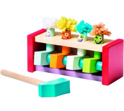 """cubika 13746 Деревянная игрушка """"Клоуны-прыгуны"""""""