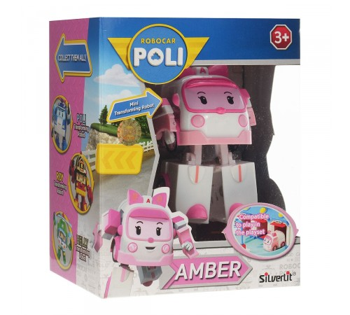 robocar poli 83172 Игрушка-трансформер Эмбер (10 см.)