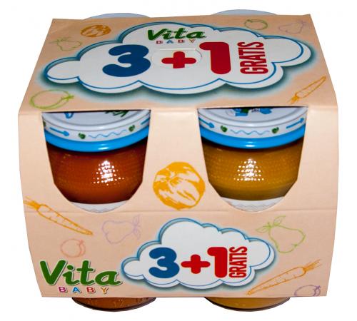 orhei-vit set piure pentru copii 3 + 1 (180 gr.) 4 buc.