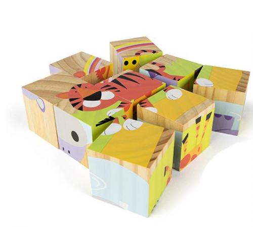 color baby 42148 jucarie din lemn cuburi .