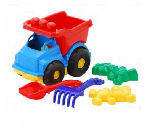 """Jucării pentru Copii - Magazin Online de Jucării ieftine in Chisinau Baby-Boom in Moldova colorplast 0176 masina-basculantă """"Тотошка"""" № 2 cu set de nisip in sort."""
