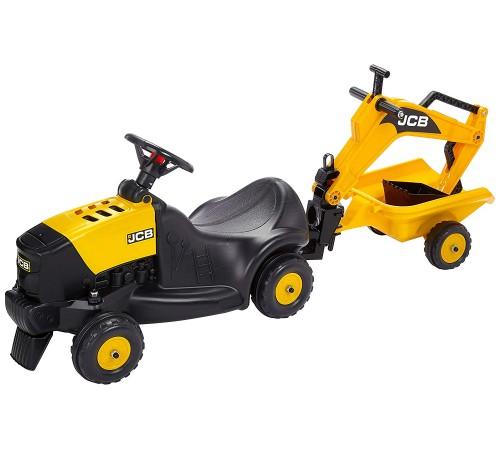 """falk 3035n tractor-excavator """"jcb"""" cu remorcă și cască galben"""