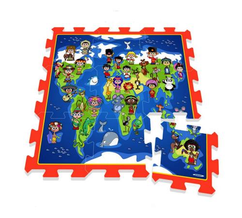 stamp tp674005 Коврик карта мира
