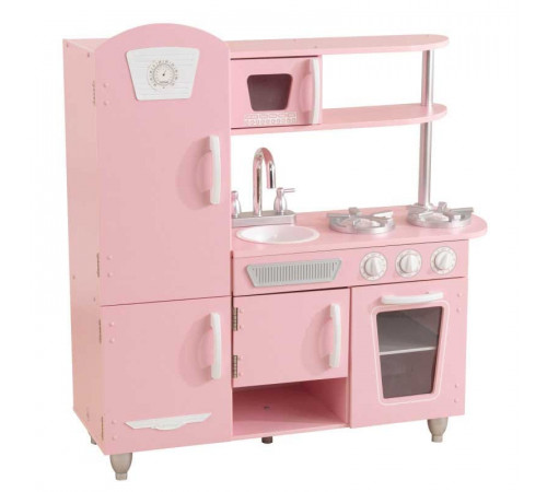 """Детскиймагазин в Кишиневе в Молдове kidkraft 53347 Детская игровая кухня """"vintage play kitchen pink"""""""
