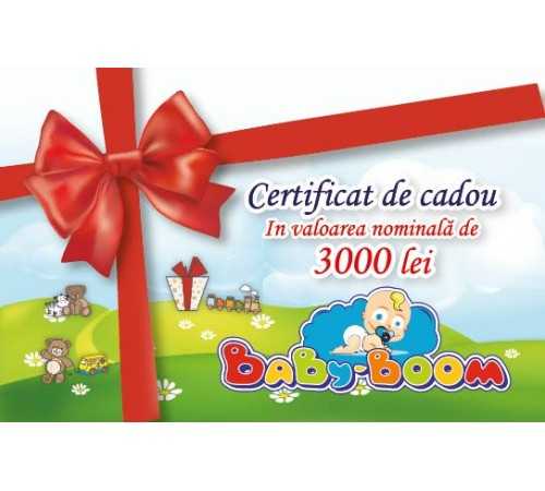Jucării pentru Copii - Magazin Online de Jucării ieftine in Chisinau Baby-Boom in Moldova Подарочный сертификат 3000