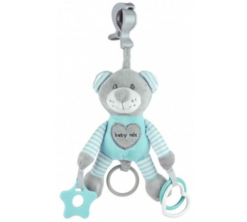 "baby mix stk-19445 mb Игрушка для путешествий с вибрацией ""Мишка"" мята"