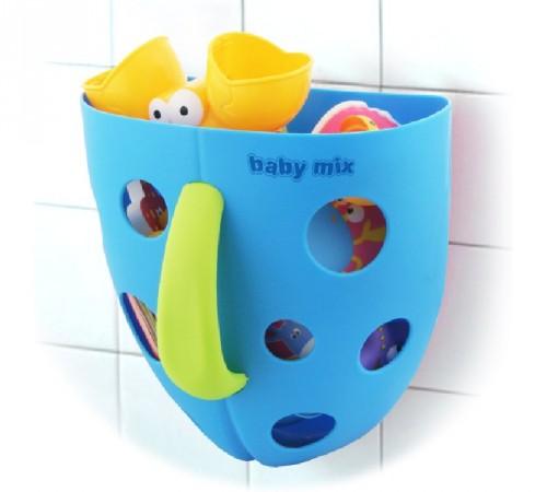 baby mix  yu/bh-708 blue Ёмкость для купальных игрушек