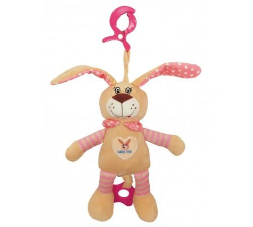 baby mix stk-17504b Игрушка плюш Зайчик розовый