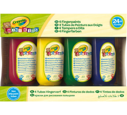 Jucării pentru Copii - Magazin Online de Jucării ieftine in Chisinau Baby-Boom in Moldova crayola 81-1476 vopsele pentru degete (4 buc.)