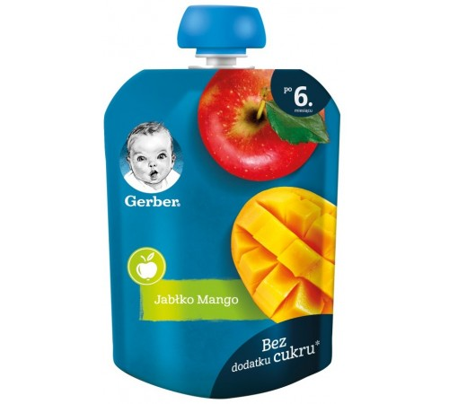 Детское питание в Молдове gerber Пюре «Яблоко-манго» 90 гр. (6+)