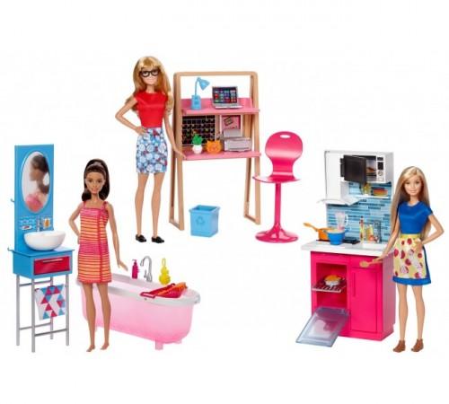barbie dvx51 Набор мебели с куклой в асс. (3)