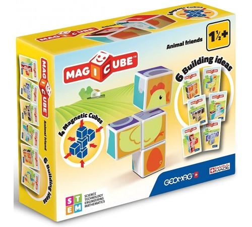 """geomag 132g Магнитные кубики """"magicube"""" Домашние Животные (4 шт.)"""