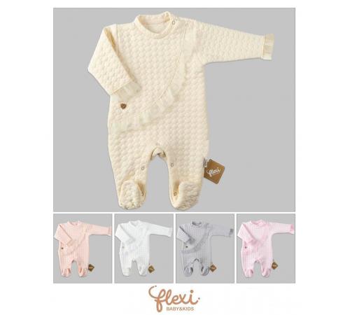 """Одежда для малышей в Молдове flexi 213878 Комбинезон """"quilted ruffle"""" (56-62-68 см.) в асс."""