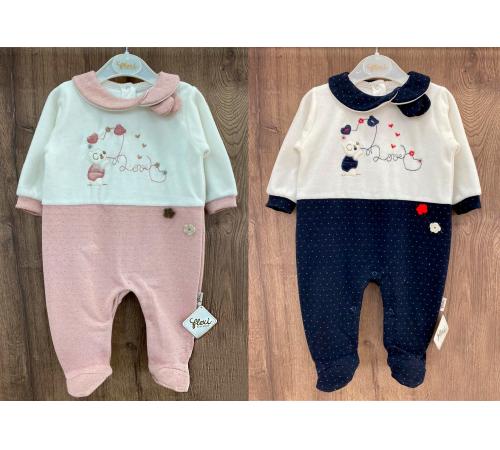 Одежда для малышей в Молдове flexi 213777 Комбинезон тонкий флисовый для девочки (р.56-62-68) в асс.
