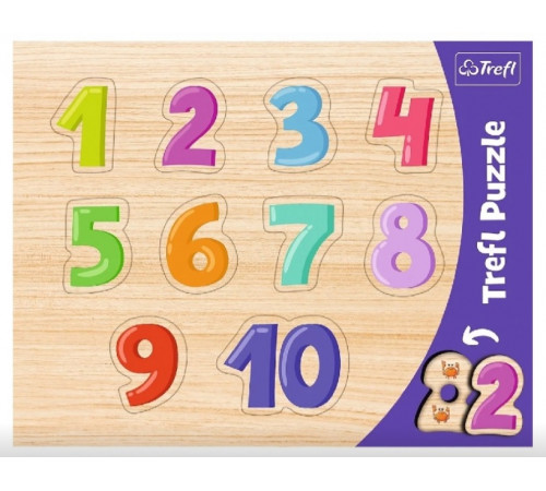 "Jucării pentru Copii - Magazin Online de Jucării ieftine in Chisinau Baby-Boom in Moldova trefl 31304 puzzle din lemn ""cifre"""