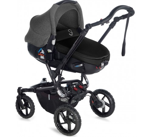 jane Коляска 2-в-1 crosswalk matrix travel system (5471 t34) графит