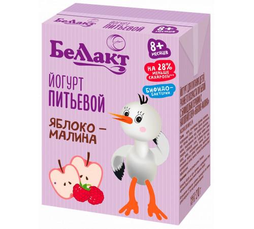 "Беллакт iaurt de băut ""apple-zmeură"" cu bifidobacterii 2,6% (8 m +) 210 g."
