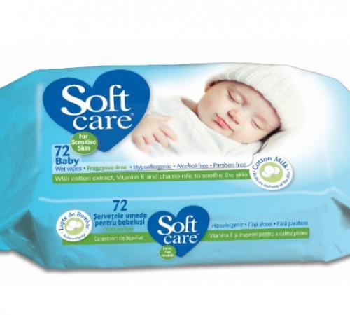 Влажные салфетки soft care 72 шт 991921