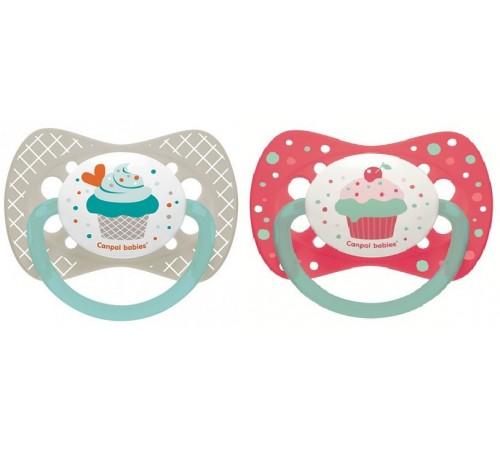 """canpol 23/282 Пустышка силиконовая симметричная """"cupcake"""" (0-6m) 1 шт."""
