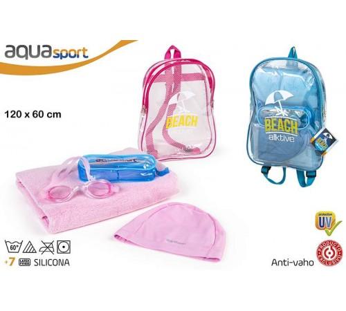Детскиймагазин в Кишиневе в Молдове color baby 53780 Набор пляжный с полотенцем в рюкзаке в асс2