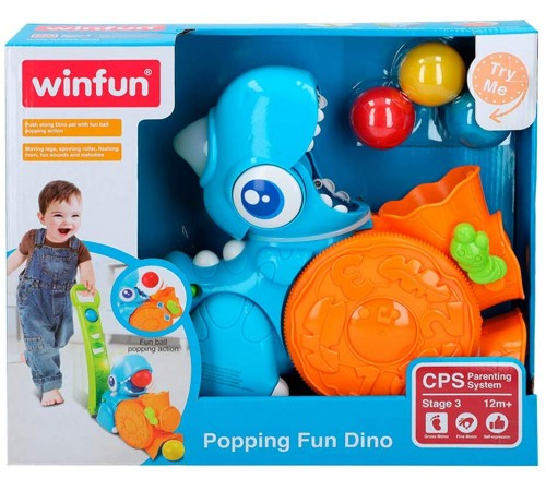 """winfun 46311 Игрушка-каталка Дино """"Поймай мяч"""""""