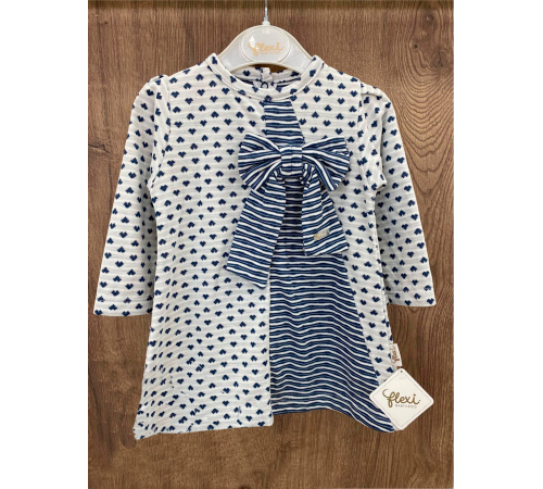 Одежда для малышей в Молдове flexi 229210 Платье с бантом (6-12-18-24 мес.)
