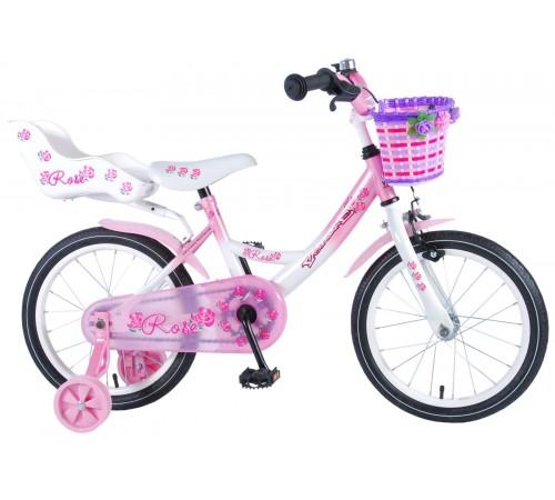 """volare 81611 Велосипед """"rose 16"""" белый/розовый"""