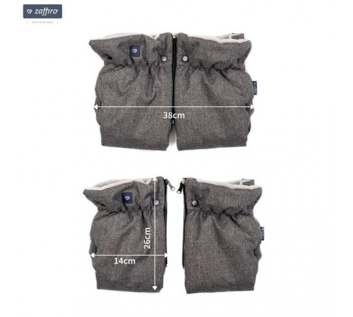 """womar zaffiro mănuși pentru cărucior """"plush black"""""""