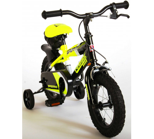 """volare 2034 Велосипед 12 """"sportivo"""" чёрный/жёлтый"""