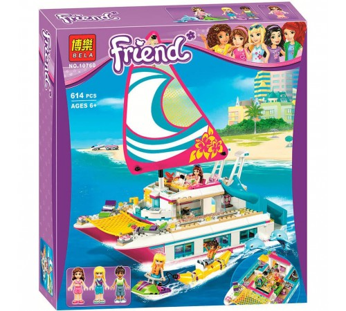"Jucării pentru Copii - Magazin Online de Jucării ieftine in Chisinau Baby-Boom in Moldova bela РД02.134 constructor ""friend"" catamaran sunshine (614 el.)"