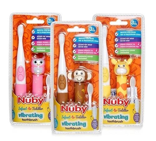 nuby nv07002 Электрическая зубная щетка ля малышей в асс.