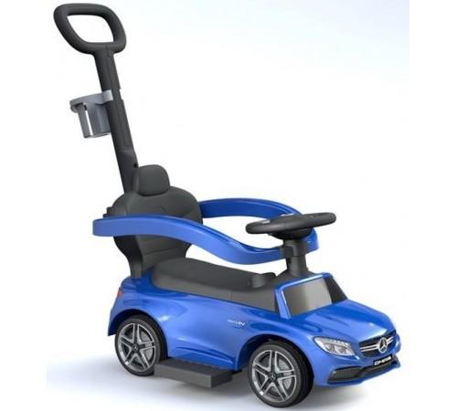 baby mix ur-hz639 blue Машина 2-в-1 mercedes c ручкой