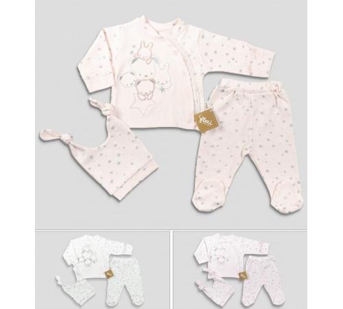 Одежда для малышей в Молдове flexi 246007 Комплект 3 единицы (50 см.) в асс.