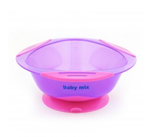 baby mix ra-d2-1100 violet farfurie cu ventuza